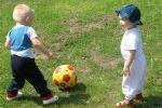 Toddlers with Soccer Ball